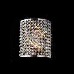 Diyas IL30199- Ava 2lt Wall Light, Polished Chrome Polished Chrome/Clear