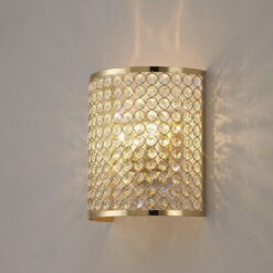 Diyas IL30759- Ava 2lt Wall Light, French Gold French Gold/Clear