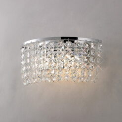 Diyas IL30052- Cosmos 2lt Wall Light, Polished Chrome