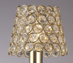 Diyas ILS10702- Crystal Ring Shade Shade, French Gold|French Gold/Clear