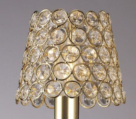 Diyas ILS10702- Crystal Ring Shade Shade, French Gold French Gold/Clear