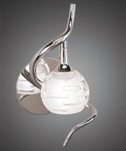 Mantra M0098/S- Dali 1lt Wall Light, Polished Chrome