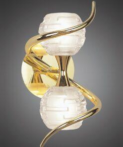 Mantra M0097PB/S- Dali PB 2lt Wall Light, Polished Brass