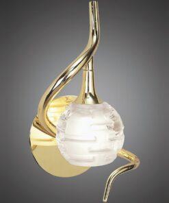 Mantra M0098PB/S- Dali PB 1lt Wall Light, Polished Brass