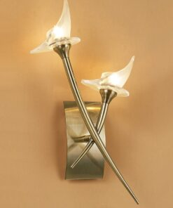 Mantra M0308AB- Flavia AB 2lt Wall Light, Antique Brass