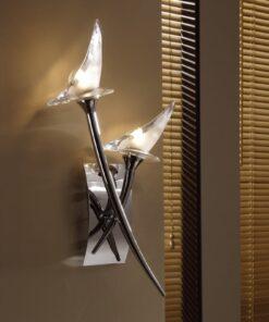 Mantra M0308/S- Flavia 2lt Wall Light, Polished Chrome