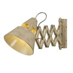 Mantra M5434- Industrial 1lt Wall Light, Sand Metal