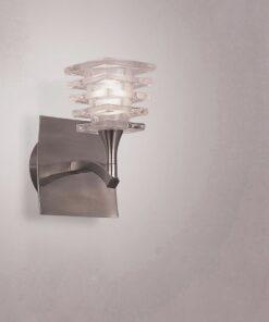 Mantra M0028/S- Keops 1lt Wall Light, Satin Nickel