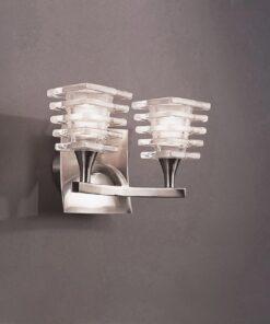 Mantra M0029/S- Keops 2lt Wall Light, Satin Nickel