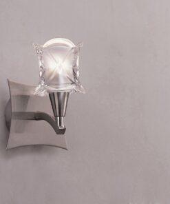 Mantra M0051/S- Rosa 1lt Wall Light, Satin Nickel