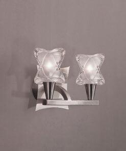 Mantra M0052/S- Rosa 2lt Wall Light, Satin Nickel