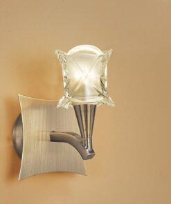 Mantra M0051AB/S- Rosa AB 1lt Wall Light, Antique Brass