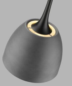 Seraphic Lighting R-1-DNEP2EC341OTCA- Aston 1lt Single Pendant, Cement & inner finished in matt white