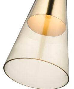 Seraphic Lighting R-1-DNEP2GC921TNEK- Kitts Green 1lt Single Pendant, Champagne Gold