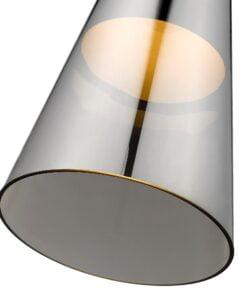 Seraphic Lighting R-1-DNEP2GS921TNEK- Kitts Green 1lt Single Pendant, Smoked Grey