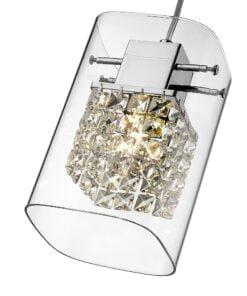 Seraphic Lighting R-1-DNEP2HC321TYEL- Longbridge 1lt Single Pendant, Chrome