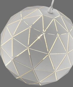 Seraphic Lighting R-1-DNEP2HW151IALP- Perry Bar 1lt Single Pendant, White & inner finished in matt white