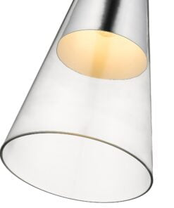 Seraphic Lighting R-1-DNEP2LC921TNEK- Kitts Green 1lt Single Pendant, Clear