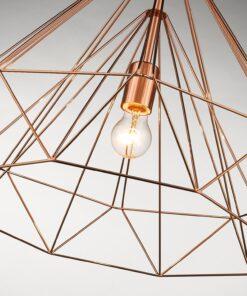 Seraphic Lighting R-1-DNEP2PC161TREM- Merr Green 1lt Single Pendant, Copper