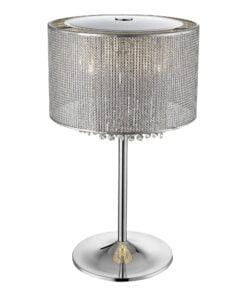 Seraphic Lighting R-1-LBAT5IS141SYRC- Cotteridge 4lt Table Lamps, Silver