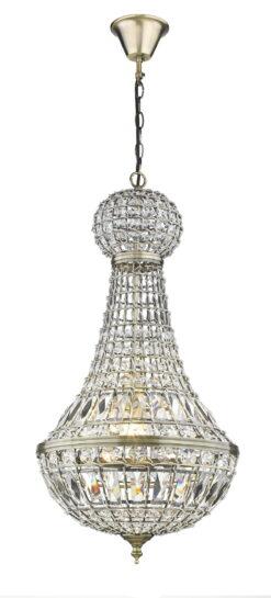 Seraphic Lighting R-1-TATS2BA941CNIF- Four Oaks 1lt Multi Arm Pendant, Antique Brass
