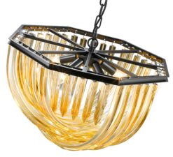 Seraphic Lighting R-1-TATS6GC461LEHC- California 5lt Single Pendant, Champagne Gold