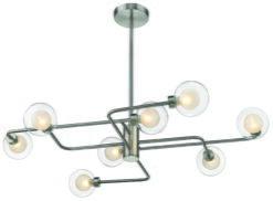 Seraphic Lighting R-1-ULFS9NS171OLOD- Deritend 8lt Semi Flush, Satin Nickel