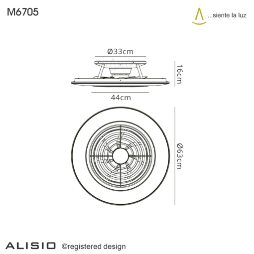 Mantra M6705- Alisio fan, White