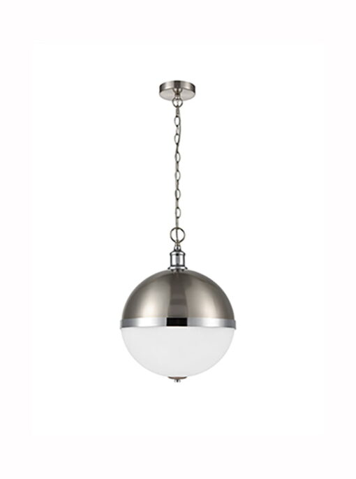 Refined Lighting RL-1-023HCP- globe 3lt, Chrome and Satin Nickel